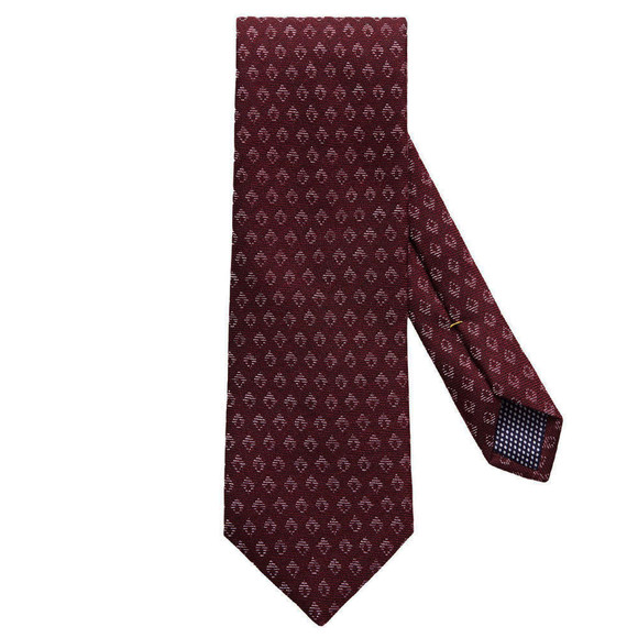Eton Mens Red Small Diamond Pattern Tie main image