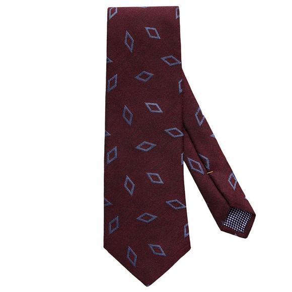 Eton Mens Red Large Diamond Pattern Tie
