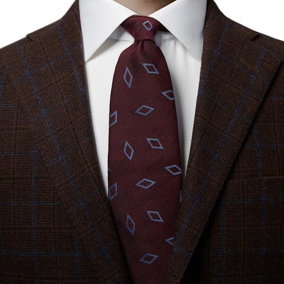Eton Mens Red Large Diamond Pattern Tie main image