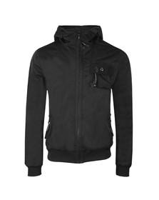 Luke Mens Black Shakermaker Pocket Detail Technical Jacket