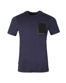 Luke Sport Mens Blue Lazer Crew T-Shirt