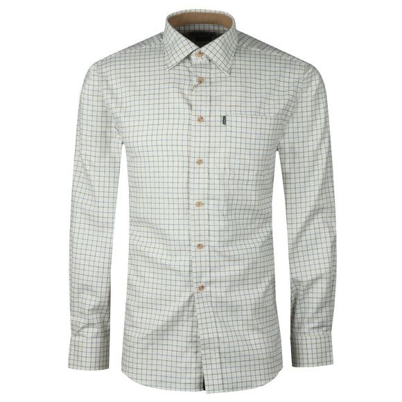 Barbour Lifestyle Mens Blue Field Tattersall LS Shirt main image