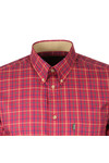 Barbour Lifestyle Mens Red Sporting Tattersall LS Shirt