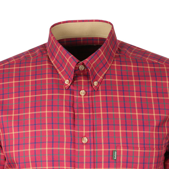 Barbour Lifestyle Mens Red Sporting Tattersall LS Shirt main image
