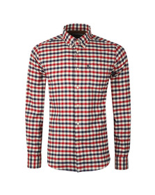 Barbour Lifestyle Mens Red L/S Stapleton Moss Shirt