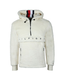 Tommy Hilfiger Mens White Oversized Teddy Fleece