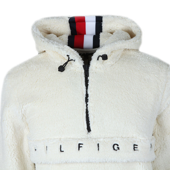 Tommy Hilfiger Mens White Oversized Teddy Fleece main image