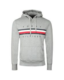 Tommy Hilfiger Mens Grey Logo Hoody
