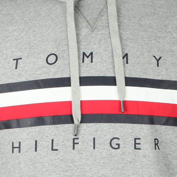 Tommy Hilfiger Mens Grey Logo Hoody main image