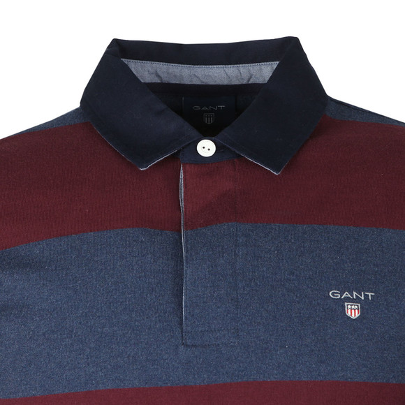 Gant Mens Purple Barstripe Heavy Rugger main image