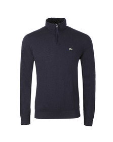 Lacoste Mens Blue Half Zip Jumper