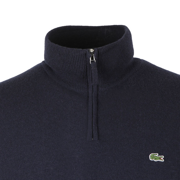 Lacoste Mens Blue Half Zip Jumper main image