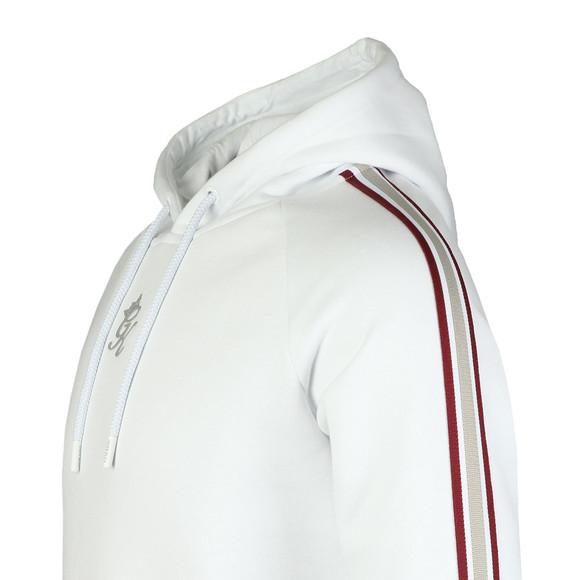 Gym King Mens White Stripe Tape Pullover Hood main image
