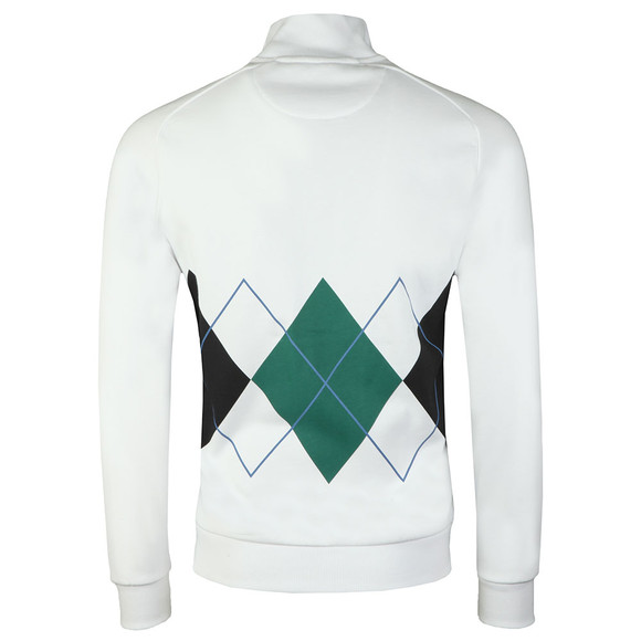 Lyle and Scott Mens White Argyle Zip Sweat main image