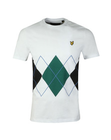 Lyle and Scott Mens White S/S Argyle Tee