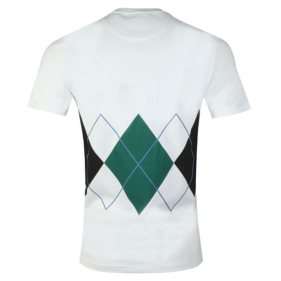 Lyle and Scott Mens White S/S Argyle Tee main image
