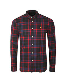 Lyle and Scott Mens Black L/S Check Flannel Shirt