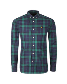 Lyle and Scott Mens Green L/S Check Flannel Shirt