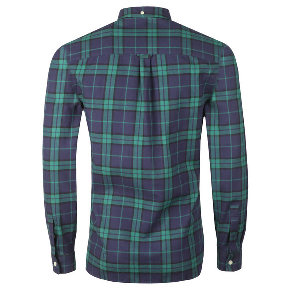 Lyle and Scott Mens Green L/S Check Flannel Shirt main image
