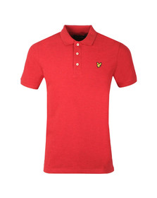 Lyle and Scott Mens Red S/S Marl Polo