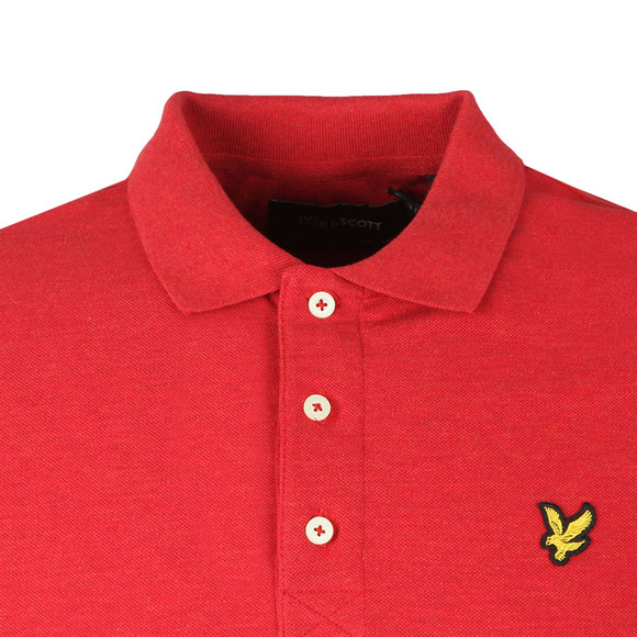 Lyle and Scott Mens Red S/S Marl Polo main image