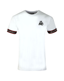 Kings Will Dream Mens White Birtley Tape Tee