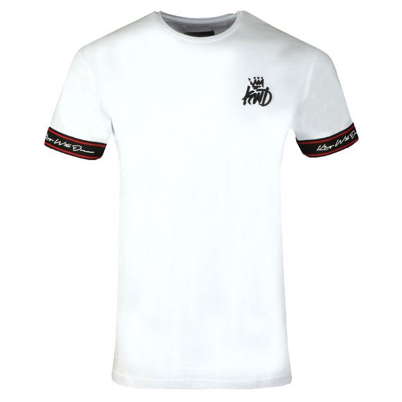 Kings Will Dream Mens White Birtley Tape Tee main image