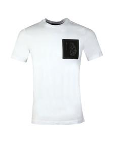 Luke Sport Mens White Lazer Crew T-Shirt