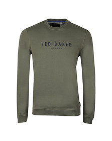 Ted Baker Mens Green Branded Anniversary Sweat