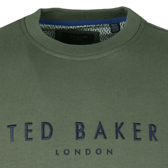 Ted Baker Mens Green Branded Anniversary Sweat main image