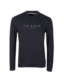 Ted Baker Mens Blue Branded Anniversary Sweat