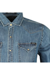 Replay Mens Blue M4860 Denim Shirt