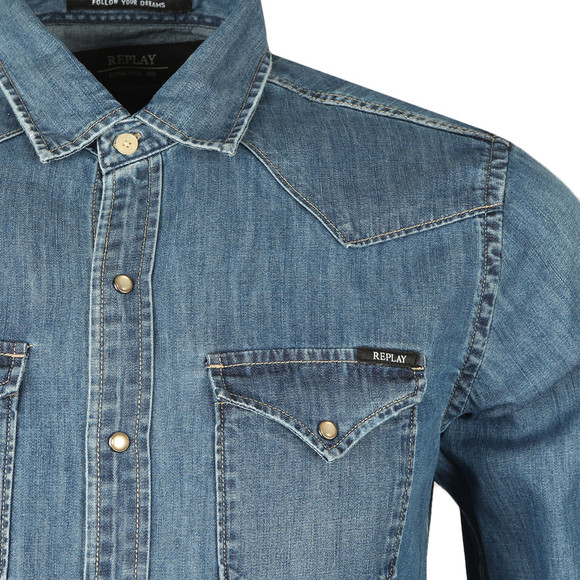 Replay Mens Blue M4860 Denim Shirt main image