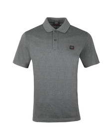 Paul & Shark Mens Grey Plain Polo Shirt