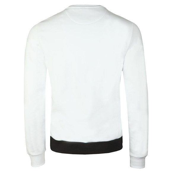 Lyle and Scott Mens White Abstract Argyle Sweatshirt main image