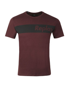 Replay Mens Red S/S M3596 Tee