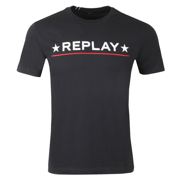 Replay Mens Blue Compact Cotton T-Shirt main image