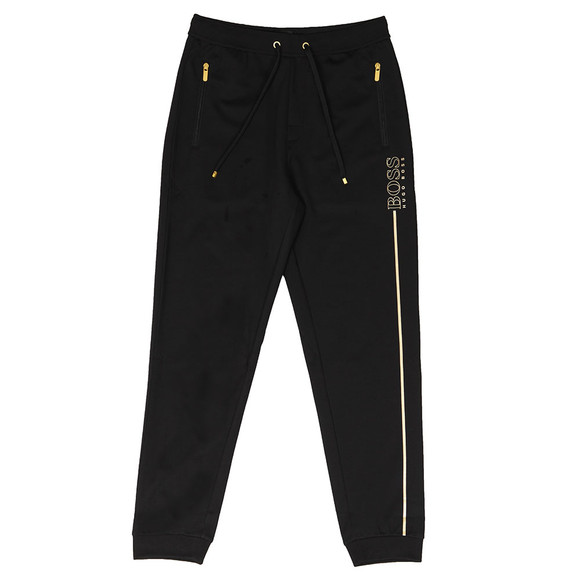 BOSS Bodywear Mens Black Gold Logo Tracksuit Pant main image