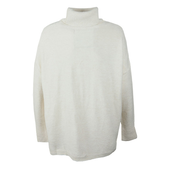 Superdry Womens Off-White Maya Ribbed Poncho main image