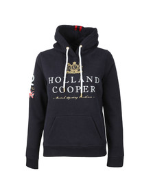 Holland Cooper Womens Blue Sportswear Luxe Text Hoodie