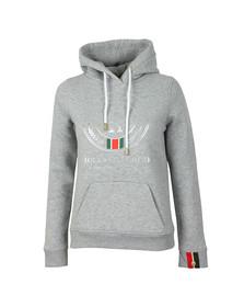 Holland Cooper Womens Grey Sportswear Luxe Round HC Hoodie
