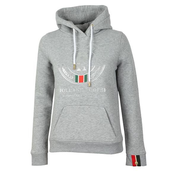 Holland Cooper Womens Grey Sportswear Luxe Round HC Hoodie main image