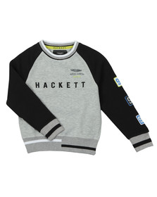Hackett Boys Grey AMR Raglan Sweat