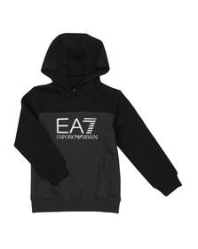 EA7 Emporio Armani Boys Grey Fleece Logo Overhead Hoody