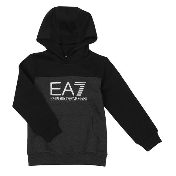 EA7 Emporio Armani Boys Grey Fleece Logo Overhead Hoody main image