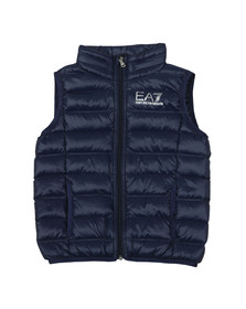 EA7 Emporio Armani Boys Blue Lightweight Down Gilet