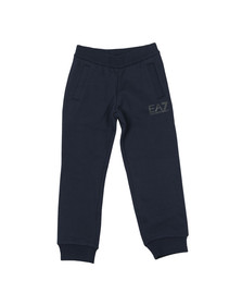 EA7 Emporio Armani Boys Blue Fleece Small Logo Jogger