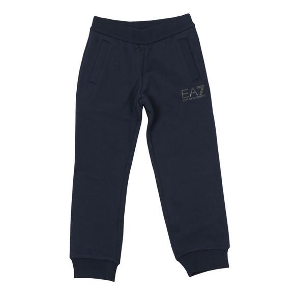 EA7 Emporio Armani Boys Blue Boys Fleece Small Logo Jogger main image