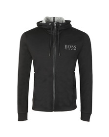 BOSS Mens Black Athleisure Reflective Logo Saggy Hoody