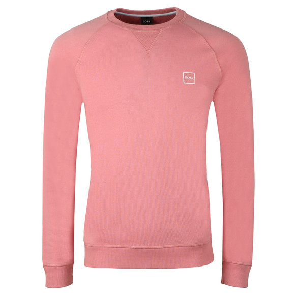 BOSS Mens Pink Casual Wyan Sweatshirt main image